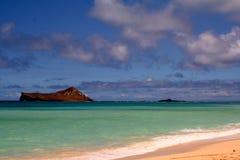 Tropical View. Hawaiian Beach Stock Photo