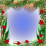 Tropical view frame Stock Images