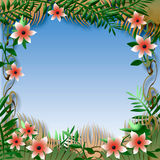 Tropical view frame Royalty Free Stock Image