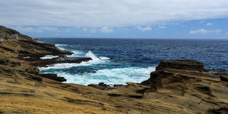 Tropical View, Lanai Lookout, Hawaii. Lanai Lookout. East Oahu, Hawaii Royalty Free Stock Photography
