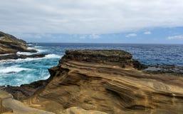 Tropical View, Lanai Lookout, Hawaii. Lanai Lookout. East Oahu, Hawaii Stock Image