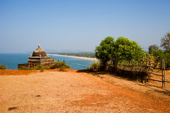 Tropical view to the beautiful hilly coastline in Gokarna, Karna Royalty Free Stock Image