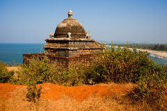 Tropical view to the beautiful hilly coastline in Gokarna, Karna Royalty Free Stock Photography