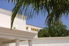 Tropical villa. White Villa in the tropes Stock Photography