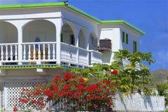Tropical villa, Caribbean. Tropical villa in St Maarten, Caribbean stock photos