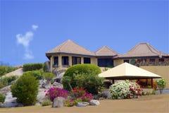Tropical villa, Caribbean. Tropical villa in Virgin Gorda, Caribbean stock photography