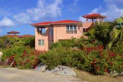 Tropical villa, Caribbean. Tropical villa in Virgin Gorda, Caribbean royalty free stock images