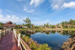 Tropical villa in nature. Selective focus stock photo