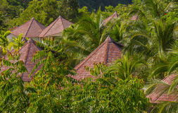Tropical Villa Roof Stock Photography