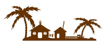 Tropical village royalty free illustration