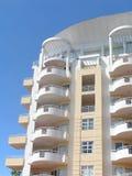Tropical Villas. White Villa on blue sky in the tropes Stock Photo