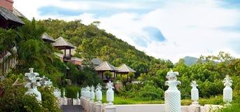Tropical villas Stock Image