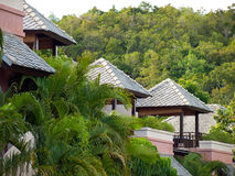 Tropical villas Royalty Free Stock Photos