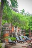Tropical villas in Bali Stock Photo