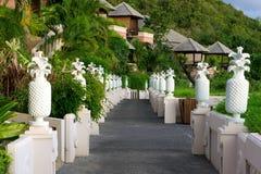 Tropical villas Stock Images