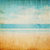 Tropical vintage beach landscape. Summer caribbean background Royalty Free Stock Images