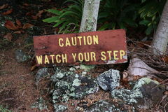 Tropical Watch your step Royalty Free Stock Photos