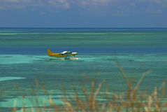 Tropical Water airplane Royalty Free Stock Photos