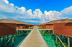 Tropical Water Bungalows, Maldives Stock Photos
