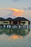 Tropical water home villas Royalty Free Stock Photo