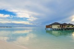 Tropical water home villas Royalty Free Stock Photos