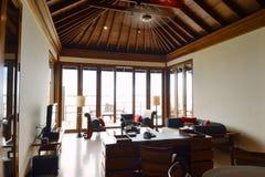 Tropical water home villas. Resort  on Maldives island at summer vacation Royalty Free Stock Image