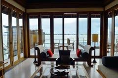 Tropical water home villas. Resort  on Maldives island at summer vacation Stock Image