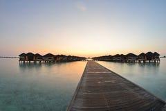 Tropical water home villas. Resort  on Maldives island at summer vacation Royalty Free Stock Photography