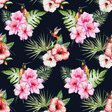 Tropical watercolor pattern Royalty Free Stock Photography