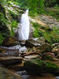 Tropical waterfall. Waterfall in Phrae province , north of Thailand Royalty Free Stock Photos