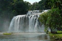 Tropical waterfall. stock photo