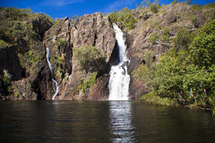 Tropical Waterfall. Waterfall in Kakadu National Park Royalty Free Stock Photo