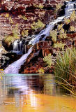 Tropical waterfall. In western australia royalty free stock photography