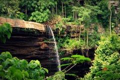 Tropical waterfall `boti waterfall` in Ghana royalty free stock photo