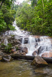 Tropical Waterfall Cascades. Waterfall in a tropical forest Stock Images