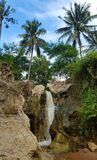 Tropical waterfall. A tropical waterfall in the Fairy Stream in Mui Ne, Cambodia Royalty Free Stock Image