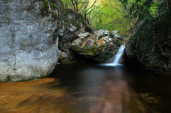 Tropical waterfall in forest Stock Photos