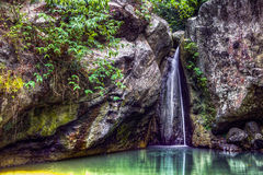 Tropical Waterfall Philippines Stock Images