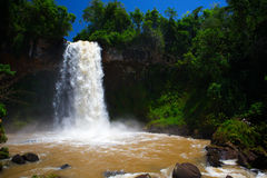 Tropical waterfall. Royalty Free Stock Photography