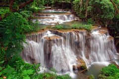 Tropical waterfall in Thailand Stock Images