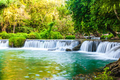 Tropical waterfall in Thailand Royalty Free Stock Images