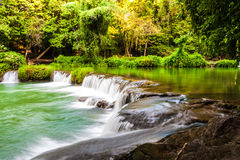 Tropical waterfall in Thailand Royalty Free Stock Photo
