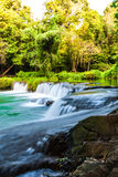 Tropical waterfall in Thailand Royalty Free Stock Image