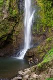 Tropical waterfalls in Costa Rica Royalty Free Stock Images