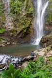 Tropical waterfalls in Costa Rica Royalty Free Stock Image