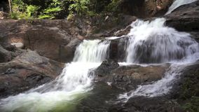 Tropical waterfalls in Terengganu. Malaysia stock video
