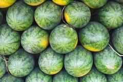 Tropical watermelon. Asian tropical fruits for sale.  Stock Photos