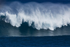 Tropical Wave. Large Wave breaking at Jaws in Maui Hawaii home break for Laird Hamilton Royalty Free Stock Photography