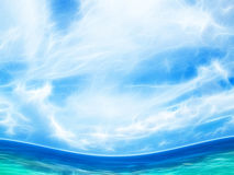 Tropical waves. Tropical beach waves water illustration royalty free illustration