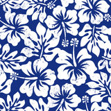Tropical weathered hibiscus seamless pattern.  Royalty Free Stock Photos